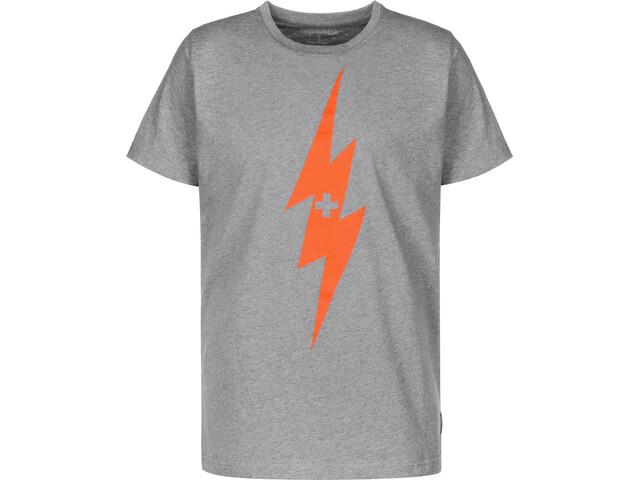 Alprausch Chrüzblitz Camiseta Hombre, dark grey melange